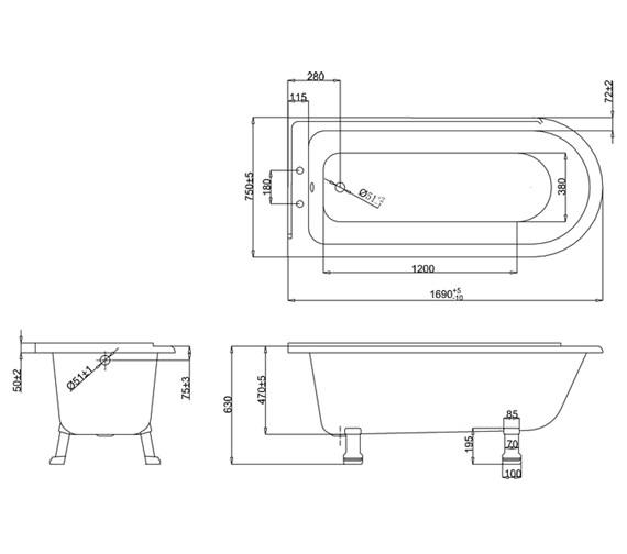 Technical drawing QS-V61957 / E13
