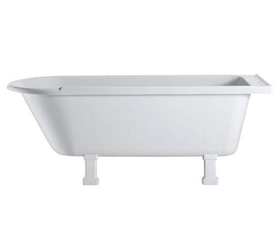 Additional image of Hampton Freestanding Bath With Chrome Period Legs - LH - E13 - E9 CHR