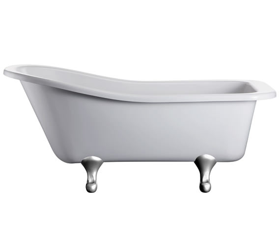 Harewood Slipper Bath With Chrome Classical Legs - E1 - E10 CHR