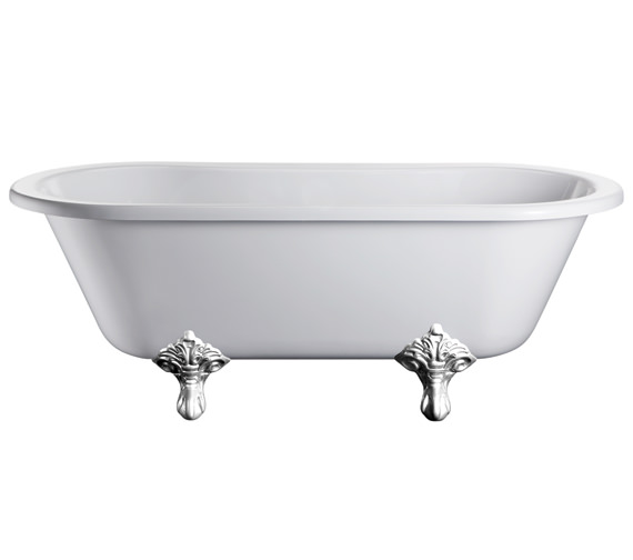 Burlington Windsor Double Ended Bath With Chrome Traditional Legs - E3 - E11 CHR