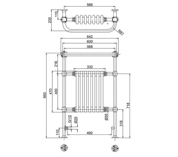 Technical drawing QS-V61977 / R1 CHR