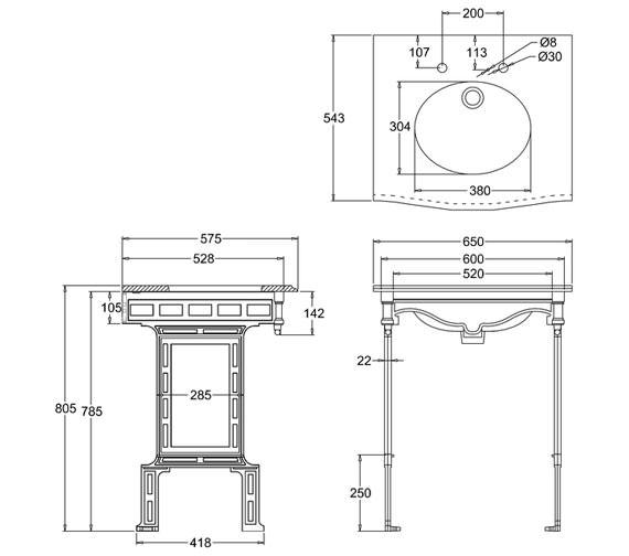 Technical drawing QS-V61983 / G1 2TH