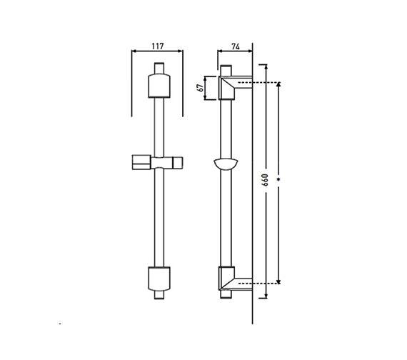 Technical drawing QS-V63014 / EVC ADR02 C