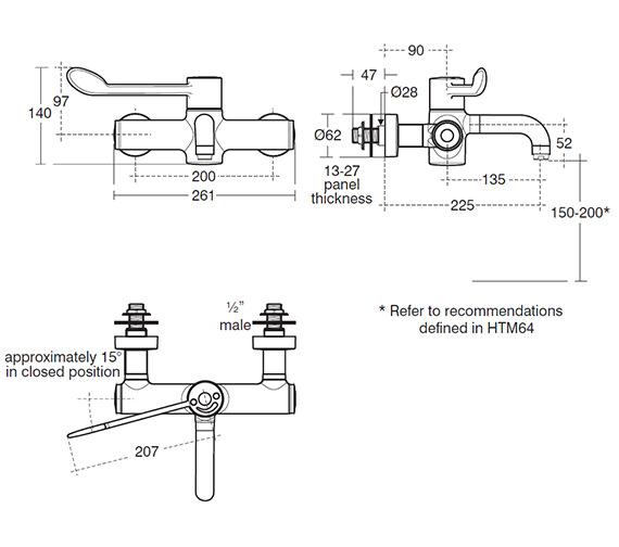 Technical drawing QS-V63081 / A6060AA