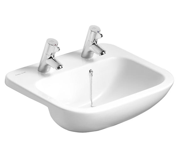 Additional image of Armitage Shanks Profile 1 Taphole Semi-Countertop Basin Without Overflow