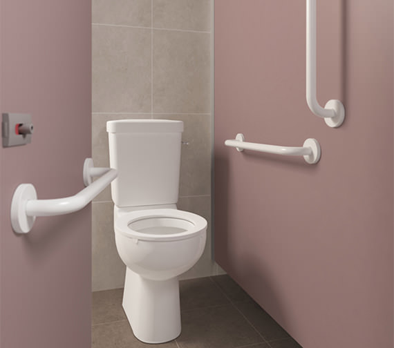 Armitage Shanks Doc M Ambulant Easy To Clean Close Coupled WC Pack With Rails