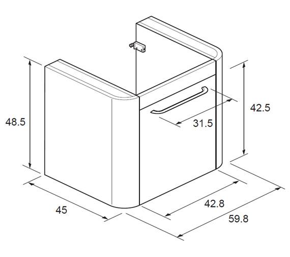 Technical drawing QS-V12025 / CL6000DBA+