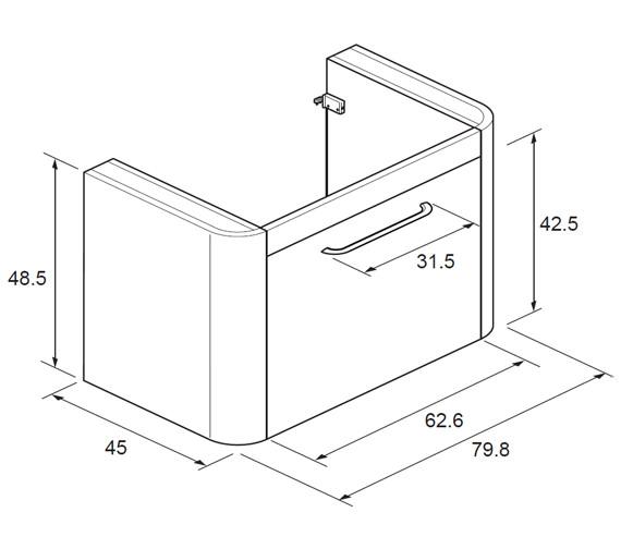 Technical drawing QS-V21196 / CL8000DWG+
