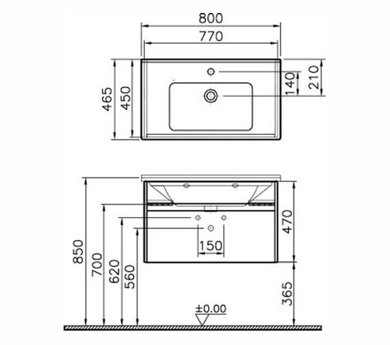 Technical drawing QS-V63133 / 54738