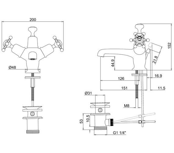 Technical drawing QS-V70005 / BI4