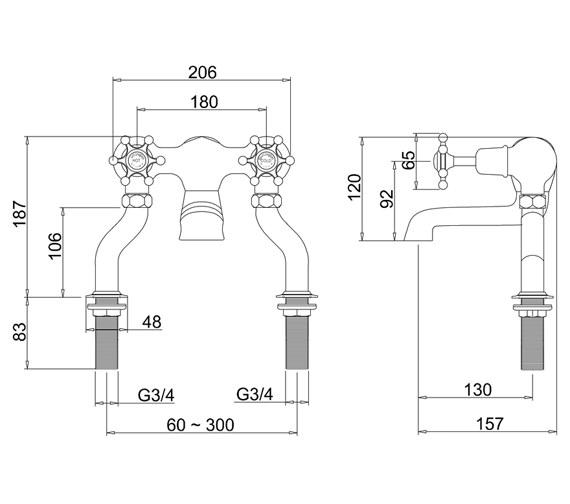 Technical drawing QS-V70009 / BI23