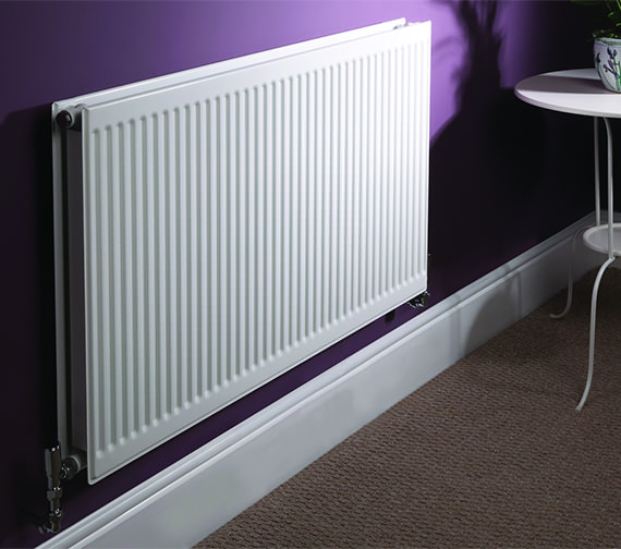 Quinn Round Top Double Convector Radiator 1400 x 300mm - Q22314RT