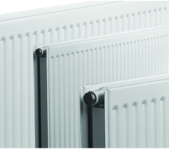 Additional image of Quinn Round Top Double Convector Radiator 1400 x 300mm - Q22314RT