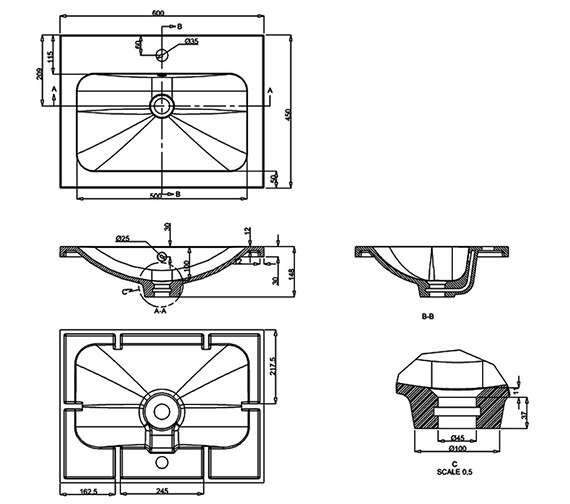 Technical drawing QS-V7027 / Q6045