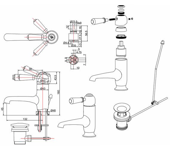 Technical drawing QS-V70334 / CH20