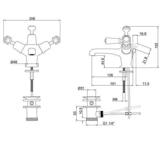 Technical drawing QS-V70345 / KE4