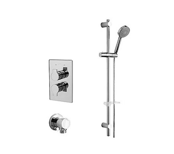 Tre Mercati Ora Thermostatic Valve With Slide Rail Kit And Wall Outlet