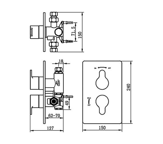 Technical drawing QS-V70507 / 22192