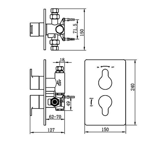 Technical drawing QS-V70509 / 22192B