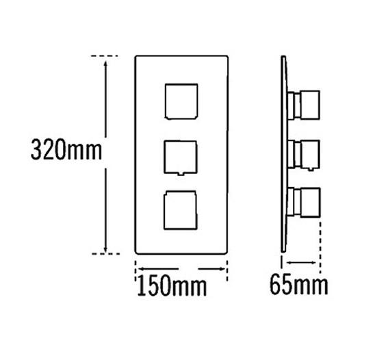 Technical drawing QS-V70510 / 22193A