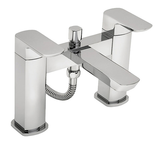 Tre Mercati Vamp Pillar Mounted Bath Shower Mixer Tap With Shower Kit