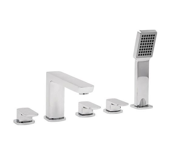 Tre Mercati Vamp 5 Hole Bath Shower Mixer Tap With Kit Chrome