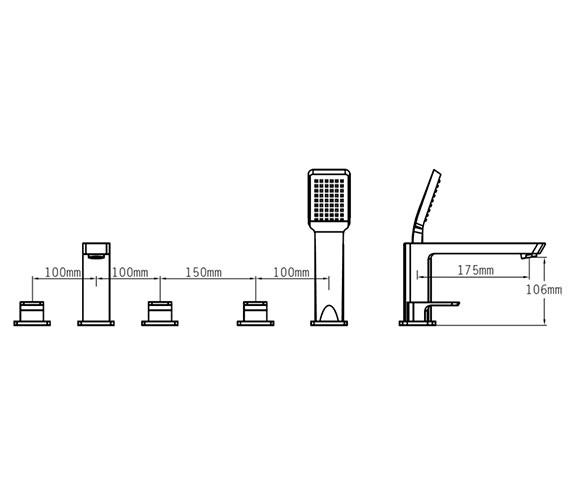 Technical drawing QS-V70521 / 43058