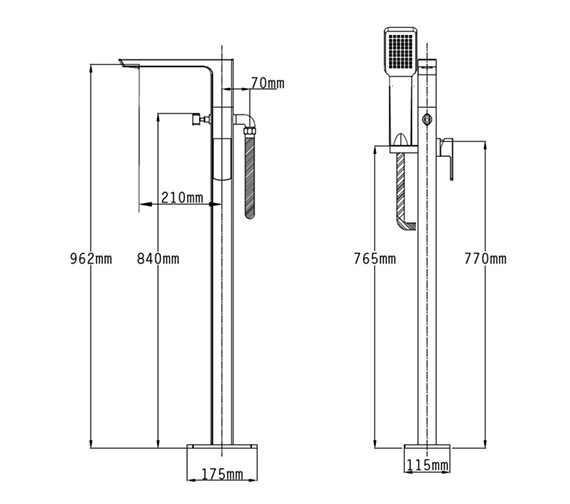 Technical drawing QS-V70522 / 43056