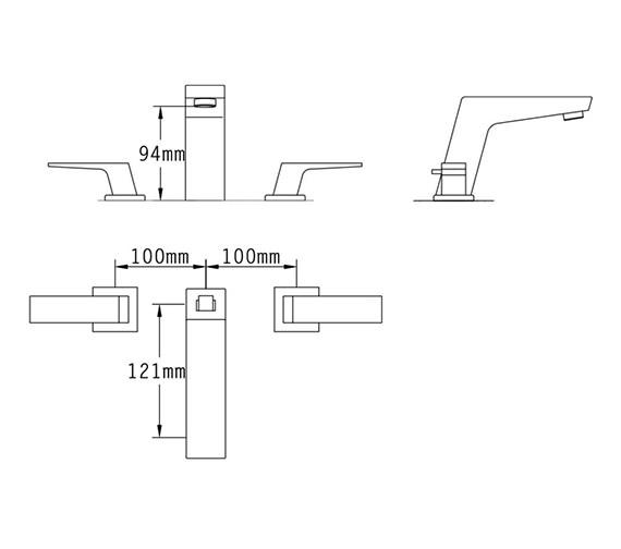 Technical drawing QS-V70529 / 47090