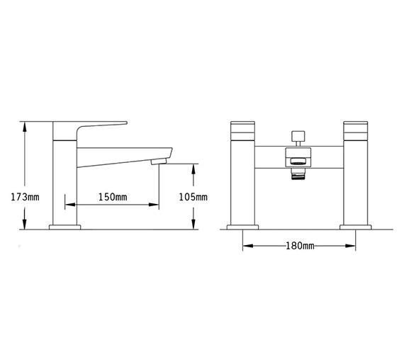 Technical drawing QS-V70536 / 47050