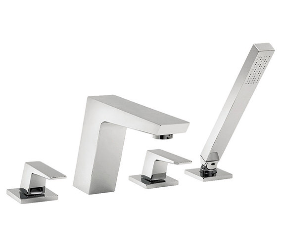 Tre Mercati Wilde 4 Hole Bath Shower Mixer Tap With Kit Chrome