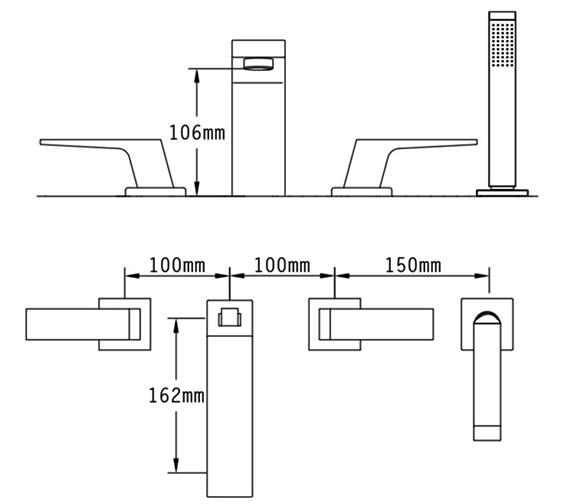 Technical drawing QS-V70537 / 47057
