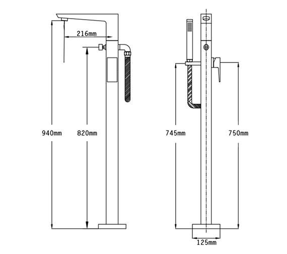 Technical drawing QS-V70539 / 47056
