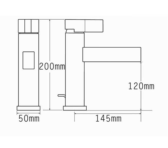 Technical drawing QS-V70540 / 22570