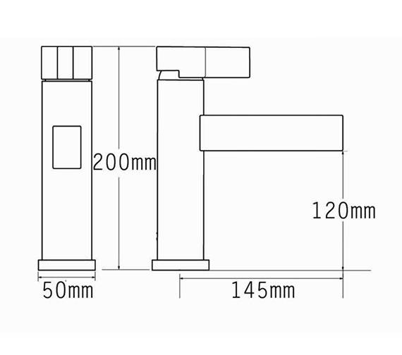 Technical drawing QS-V70541 / 22575