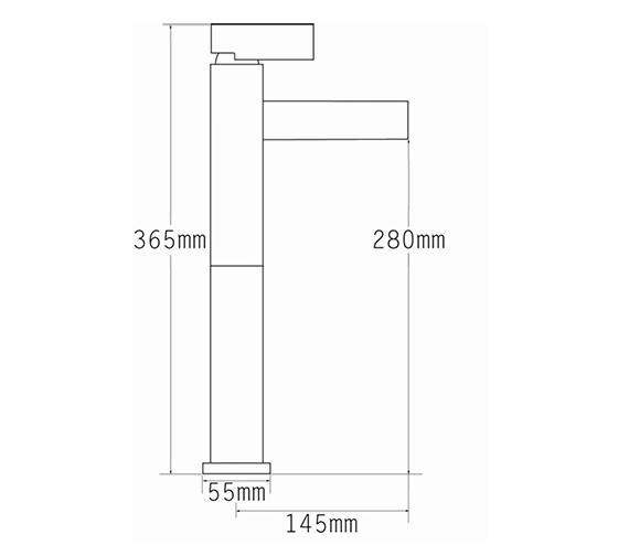 Technical drawing QS-V70542 / 22560