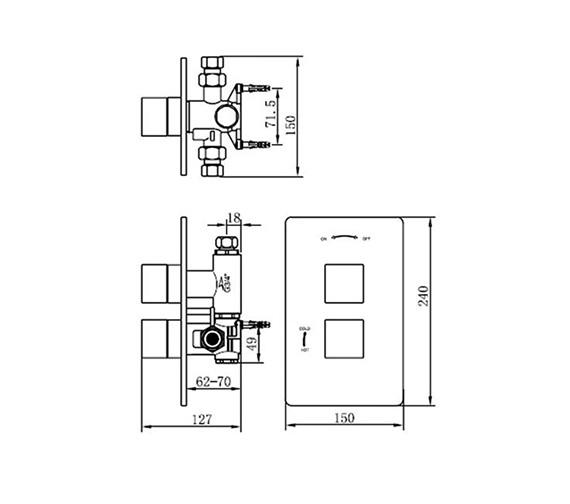 Technical drawing QS-V70554 / 83050A