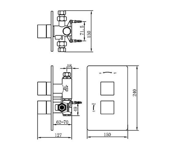 Technical drawing QS-V70558 / 83052B