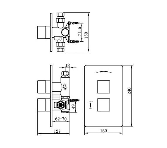 Technical drawing QS-V70573 / 83052A