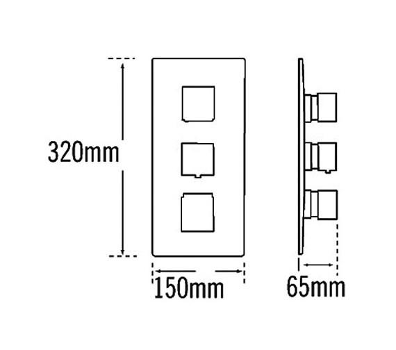 Technical drawing QS-V70585 / 83053