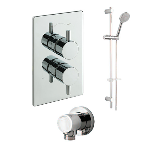 Tre Mercati Poppy Concealed Valve With Slide Rail Kit And Wall Outlet