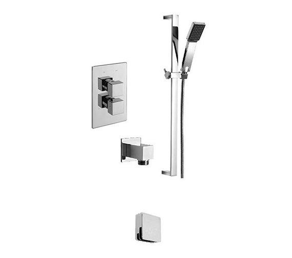 Tre Mercati Edge 2 Way Diverter Valve With Sliding Rail And Wall Outlet