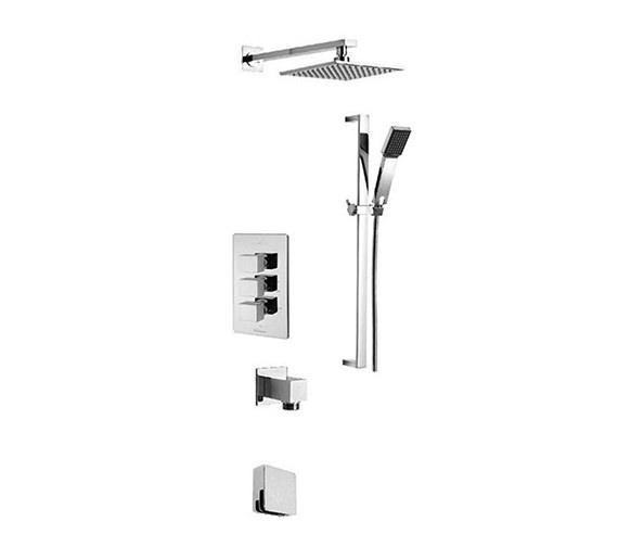 Tre Mercati Edge Concealed 3 Way Diverter Shower Valve And Shower Set