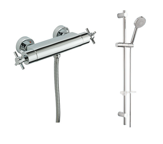 Tre Mercati Erin Exposed Thermostatic Shower Valve With Slide Rail Kit