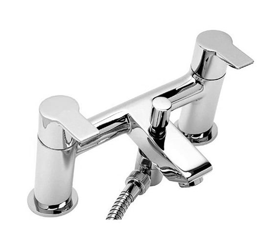 Tre Mercati Angle Pillar Mounted Bath Shower Mixer Tap With Shower Kit