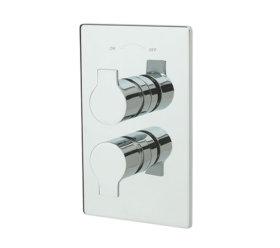 Tre Mercati Angle Concealed Thermostatic Shower Valve Chrome - 22191