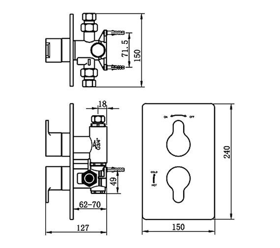 Technical drawing QS-V70618 / 22191A