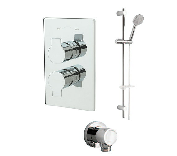 Tre Mercati Angle Concealed Shower Valve With Kit And Outlet - 22191B