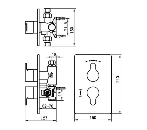 Technical drawing QS-V70619 / 22191B