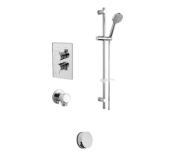 Tre Mercati Angle Concealed 2 Way Diverter Valve And Shower Set-22192B